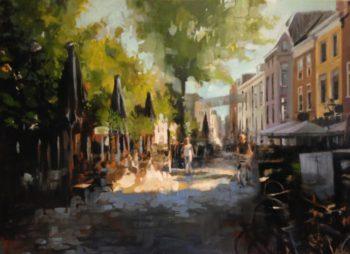 Edwin van den Berg Uilenburg, olie op doek, b100xh80cm,