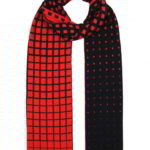 Paradigma gebreide sjaal dubbelkleurige twee kleuren jacquard, 100% extra fijne merino wol, lengte 220 cm, € 99,- diversen kleuren