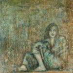 Annabel (acryl op doek 90x90 cm)