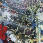 view over Den Bosch, olie op linnen, b1.20xh.150, € 1.700,-