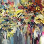 Zonnenbloemen, 1.40 cm x 1.00 cm, € 1.400,-